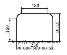 Форма поперечного сечения шпал 1 типа