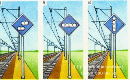 железнодорожные сигнальные знаки